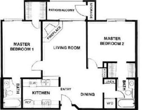 friends apartment plattegrond Lucera apartments